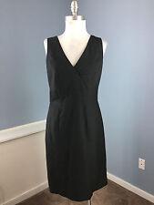 Ann Taylor Black Sheath Dress Wool Blend Dress Career Cocktail Suiting S 4
