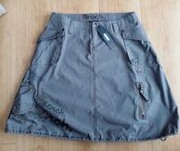 BENCH Khaki Grey / Green A Line Grafitti Skirt Military Drawstring BNWT Size 8