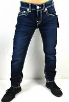 True Religion $299 Rocco Relaxed Skinny Natural Super T Jeans -102689
