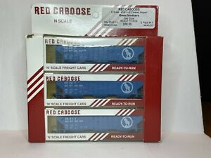 Red Caboose Great Northern Sky Blue 4740 CU. Ft. Covered Hopper 3-Pack N Scale
