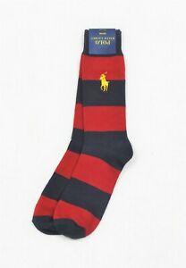 Polo Ralph Lauren Men's Trouser Socks Big Pony Red Navy Dress Casual NWT