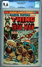MARVEL FEATURE 12 CGC 9.6 WHITE PAGES THING & IRON MAN LAST ISSUE NEW CGC CASE