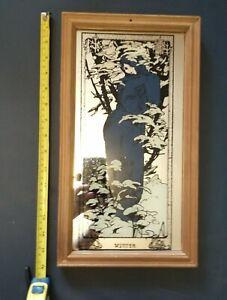Art nouveau mucha winter four seasons mirror