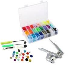 24 Colours 360 Sets T5 Plastics Snaps Fasteners Kam Snap Plier Kit