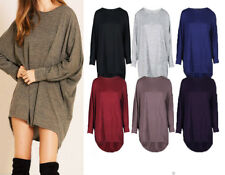 WOMEN'S BAGGY LONG BATWING TOP OVERSIZED CASUAL WEAR LONG TOP SIZES 8 - 28