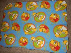 LN 40x50 The SIMPSONS BART HOMER Fleece Toddler Bed Comforter Throw Blanket