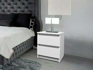 Nachttisch Nachtschrank Beistelltisch Boxspringbett Kommode Sideboard Weiß