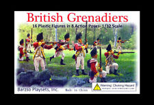 Barzso British Grenadiers - unpainted 60mm soft plastic original mint-boxed set