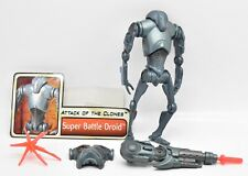 Star Wars Saga Super Battle Droid Complete Loose Action Figure Hasbro 2002