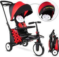 SmarTrike STR5 Zoo Kids 7 in 1 Compact Folding Stroller Trike Ladybug 9-36 M New