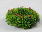 """Plastic Christmas Candle Holders Ring Wreath, Holly Greenery 6 1/2"""""""