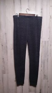 Climate Right by Cuddl Duds Base Layering Pants Leggings Gray Large
