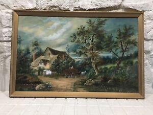 Ben (Benjamin) FOSTER (1852-1926) New England Watercolor PAINTING Farmhouse