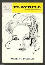 An Evening With MARLENE DIETRICH (Broadway Debut) 1967 Opening Night Playbill