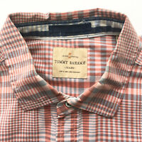 Tommy Bahama Mens Size XL Shirt Plaid Long Sleeve Button Front Extra Large
