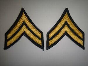 Paire De États-Unis Armée Caporal Rang E4 Chevrons