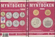 Catálogo Billetes y Monedas de Noruega 1994 Archie Tonkin