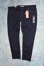 Women Plus Sz 22W Levis 711 Skinny Dark Wash Blue Jeans Cotton Stretch Mid Rise