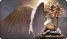 Serra Angel Playmat Signed Douglas Shuler Magic the Gathering MTG Sexy Youtube