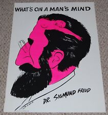 vintage SIGMUND FREUD What's On A Man's Mind 1970's Blacklight Poster Dara Art