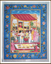 Mughal Emperor Court Scene Natural colors Miniature Painting from Jaipur India