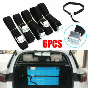 6Pcs Lashing Straps Cargo Luggage Tie Down Cam Buckle Roof Rack 2.5m x 25mm UK