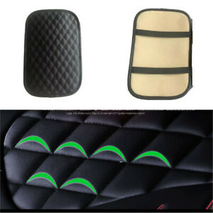 Universal Car Armrest Pad Cover SUV Center Console PU Leather Cushion Protector