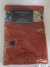 """Cynthia Rowley New York 100% Cotton Rust Colored Table Cloth 60"""" X 90"""""""