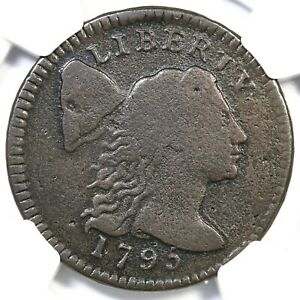 1795 S-76a R-5 NGC VG Details Liberty Cap Large Cent Coin 1c