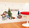 Neu Weihnachten Schneemann Bär Entfernbarer Fenster Sticker Aufkleber Wand SchFd