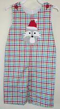 New In Bag Kelly's Kids Matthew Applique Santa Fox Longall Boys Sz 18 Month
