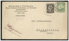 USA MI 275 MIF Letter with registered mail to Hungary