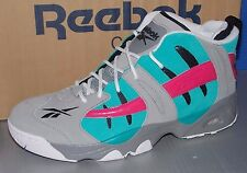 "BOYS REEBOK RAIL ""SAN ANTONIO SPURS"" GREY / BLUE / PINK / WHITE / BLACK SIZE 6"