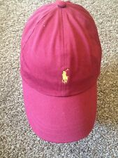 Polo Ralph Laurent Baseball Cap Hat Adjustable Red Size M/L GXN
