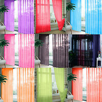 1 Piece Floral Tulle Voile Door Window Curtain Drape Panel Sheer Scarf Divider