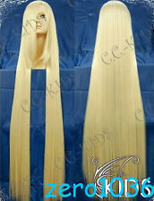 200cm Extra long wig New Blonde Straight Cosplay Wig