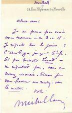 Miche CARRÉ théâtre film Ambigu 3 lettres autographes signées Funambule Odéon