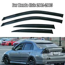 For Honda Civic Sedan 4 Door 2001-2005 Window Visors Vents Rain Guard Deflectors (Fits: Honda)