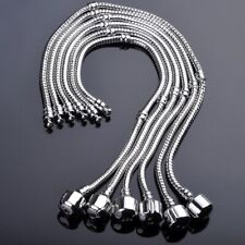 5X Wholesale Silver Plated Snake Chain European Charm Bracelets With Snap Clasp