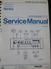 Original Service manual Philips Cassette autoradio 22dc554