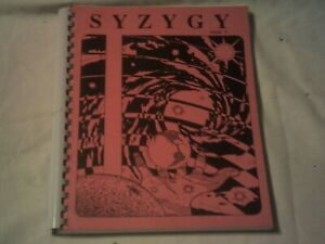 SCIENCE FICTION FANZINE SYZYGY issue 5  1991 fantasy stories,art,poetry,comics
