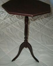 "Octagon Shaped Classic Furniture Plant Stand 21 1/2"" High w/Pedistal"
