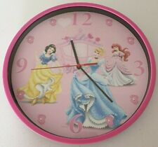 Disney Princess Pink Carriage Clock Kids Bedroom   Cinderella, Snow White, Ariel