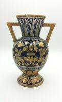 Vaso d'epoca in ceramica a lustro Robbia da Gualdo Tadino con mancanze