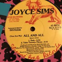 Joyce Sims All And All Vinyl Record Original First Pressing 1986 Freestyle NM