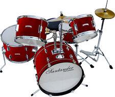 Großes Kinderschlagzeug Drum Komplett Set, 8 teilig, Rot