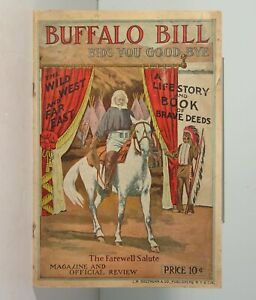 1910 BUFFALO BILLS WILD WEST SHOW GROUNDS PROGRAM - OFFICIAL WILD WEST PROGRAM