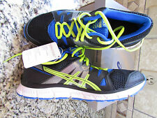 NEW ASICS GEL UNIFIRE TR SHOES MENS 11 S406L BLACK LIME BLUE FREE SHIP