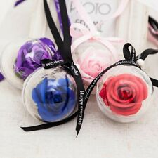 2PCS Rose Plastic Ball Pendant Soap Flower Decoration Valentine's Day Gift