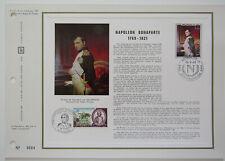Feuillet CEF 1er jour n°107B 1969 Napoléon Bonaparte Portrait